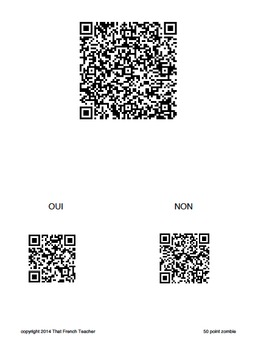French QR Code Haunted Zombie Hunt