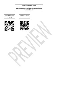 French QR Code Mat Preview File
