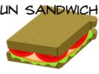 "French ""Qu'est-ce qu'on mange?"" PowerPoint (school lunch f"