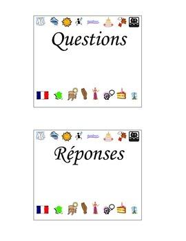 French Question Game/Répondez à la Question