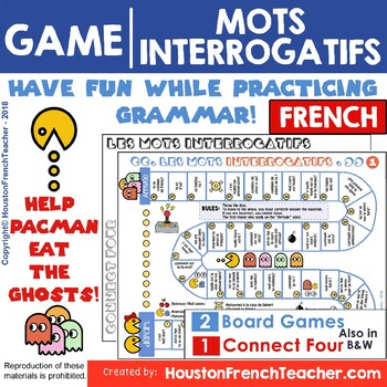 French Question Words - Les mots interrogatifs - Game (2 Versions) + Connect 4