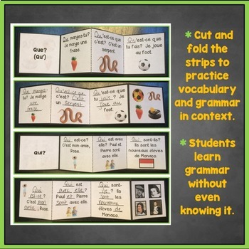 French Question Words, Interrogatives Interactive Notebook Trifold Flashcards