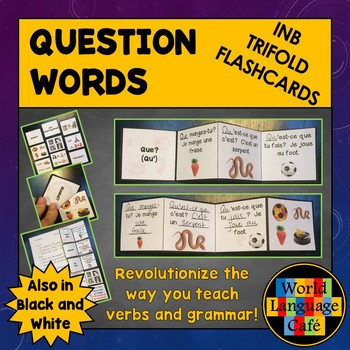 French Question Words, Interrogatives Interactive Notebook