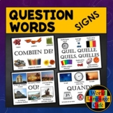 French Question Words, Interrogatives Signs, Posters, Class Decor