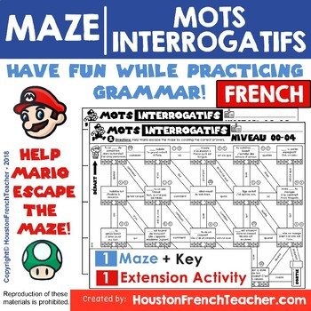 French Question Words - Les mots interrogatifs - French game (MAZE)