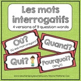 French Question Words / Mots Interrogatifs / Flashcards / Word Wall