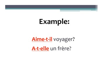 French Questions PowerPoint Notes & Practice Activity
