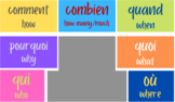 French Questions Words Virtual Background