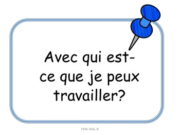 French: Questions de classe, Core French & French Immersion