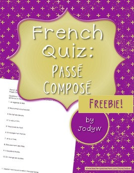 French Quick Quiz - Passé Composé with Avoir and Irregular Past Participles