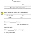 French Quiz - Ma famille