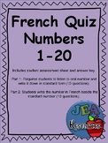 French Quiz - Numbers 1-20