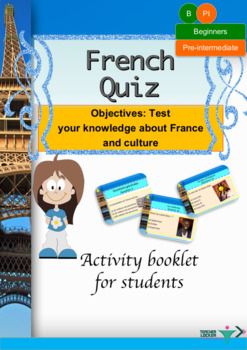 French Quiz booklet for beginners