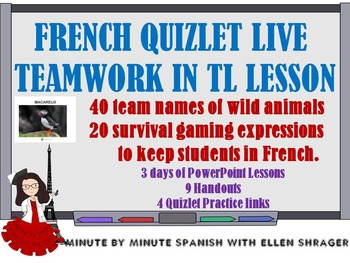 French Quizlet Live Game Teamwork in Target Language Lesson