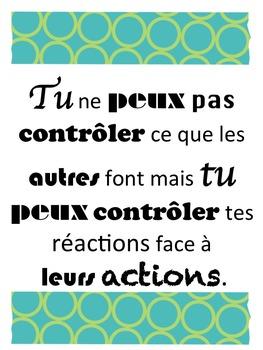 """French: """"Traits de caractère"""" pour la classe"""