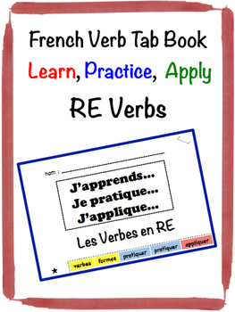 French RE Verb Tab Book