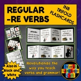 French RE Verbs Flashcards, Interactive Notebook Trifold F