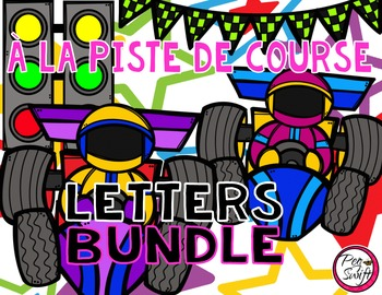 French Race Track Letter Tracing Pages BUNDLE