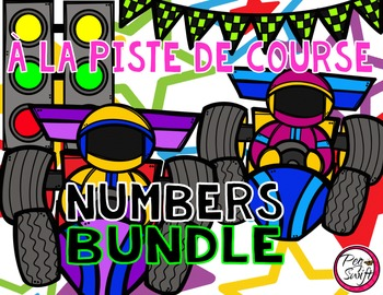French Race Track Number Tracing Pages BUNDLE