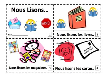 French Read Across America 2 Emergent Reader Booklets