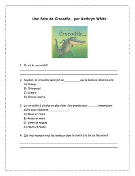 French Read Aloud & Comprehension Package NO PREP + Extension Activities