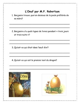 French Read Aloud & Comprehension Package NO PREP + Extens