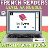 French Reader Activity Boom Books Bundle: LEVEL AA | Carte