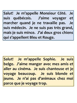 French Reading Activity-Stations (Level 1)