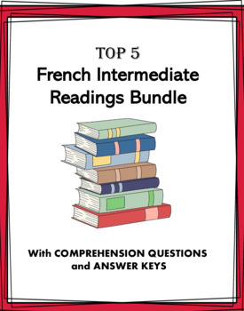 French Reading Bundle: Intermediate - 4 Lectures Intermédiaires !