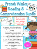 French Winter Reading + Comprehension Bundle
