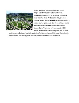 French Reading Comprehension - Le château de Versailles