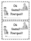 French Reading Comprehension (SPRING) – Où? Quand? Pourquoi?