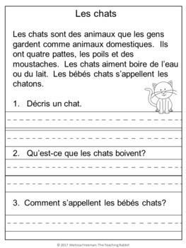 French Reading Comprehension Passages (Non-Fiction)