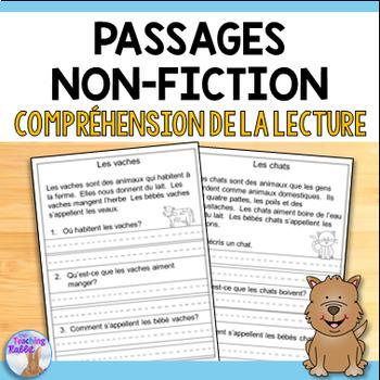 French Reading Comprehension Passages (Compréhension de la lecture)