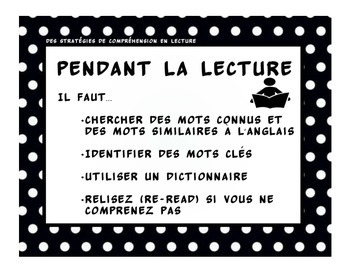 French Reading Comprehension Strategies Posters