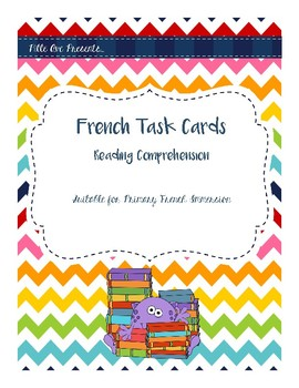 French Reading Comprehension Task Cards
