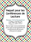 French Reading Conference Bundle (Conférences de Lecture)