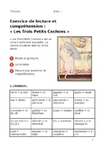 "French Reading Exercise: ""Les Trois Petits Cochons"" with Comprehension Questions"