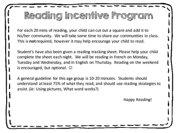 French Reading Incentive Program