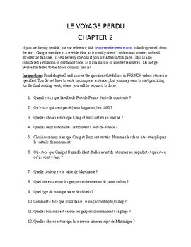 French Reading Le Voyage Perdu (Older Edition) Comprehension Questions