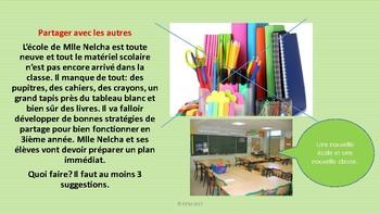 """French: Reading: """"Le retour à l'école"""", Traits de caractère, lecture"""