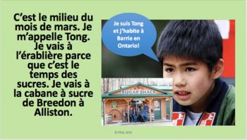 """French: Reading: """"Le temps des sucres"""", lecture/compréhension"""