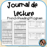 Journal de lecture – French Reading Program with Reading Logs & Reference Pages