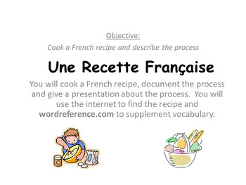 French Recipe Project