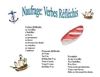 French Reflexive Verb Activity (Naufrage)