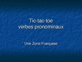 French - Reflexive Verb Tic-Tac-Toe