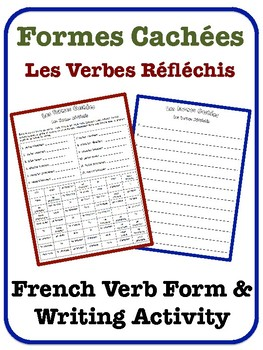 French Reflexive Verb Writing Activity