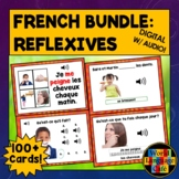 French Reflexive Verbs Boom Cards, French Reflexives Boom Cards
