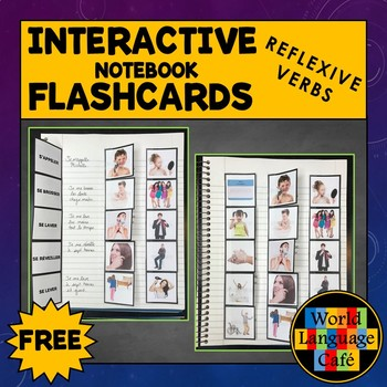 French Reflexive Verbs Interactive Notebook Flashcards, Les Verbes réfléchis