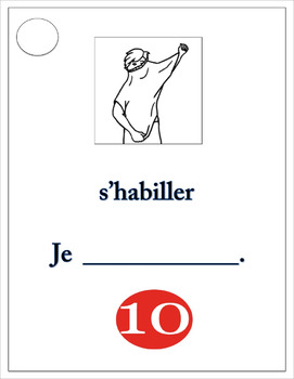 French Reflexive Verbs Task Cards - Cartes à Tâches